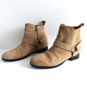 Urban Outfitters Tan Suede Harness Chelsea Boot
